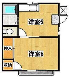 サンワコ−ポ[2階]の間取り
