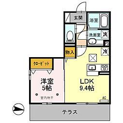 (仮)D-room内ケ島町[107号室]の間取り