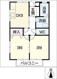 YKヒル[1階]の間取り