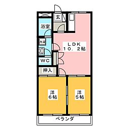 アーバンハイツ・メロディー[1階]の間取り