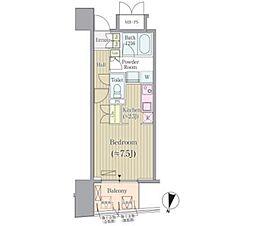 JR総武線 市ヶ谷駅 徒歩7分の賃貸マンション 6階1Kの間取り