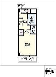 シャトー岐大 B棟[1階]の間取り