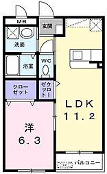メゾン クレール[1階]の間取り