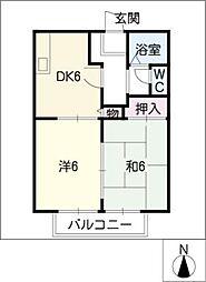 オルゴール[2階]の間取り