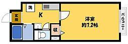 ブルーム・大和田[1階]の間取り