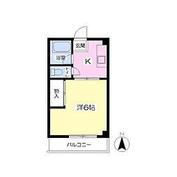 メゾン松香[403号室]の間取り