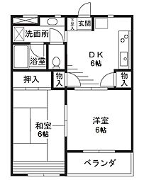 シーズ・レフィネ25[203号室]の間取り