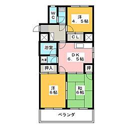 第2桜山ハイツ[1階]の間取り