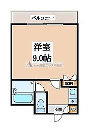 大阪府東大阪市喜里川町の賃貸マンションの間取り