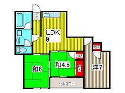 メゾン・ド・フォンテーヌ[4階]の間取り