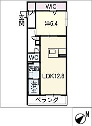 仮)JA賃貸豊田市緑ヶ丘 2階1SLDKの間取り