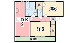 ルミエール東今宿[A101号室]の間取り