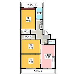 テラザワビル[4階]の間取り