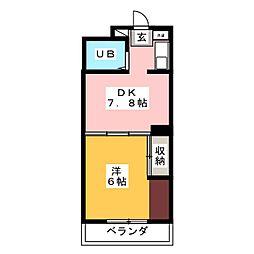 レジデンス花京院[1階]の間取り