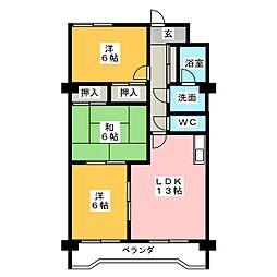 エクセル川本パートII[3階]の間取り