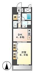 エスタシオン御器所[5階]の間取り