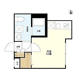 東京メトロ有楽町線 江戸川橋駅 徒歩3分の賃貸マンション 1階ワンルームの間取り