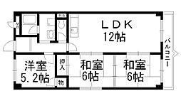 ソシアハイツOKUDA[0303号室]の間取り