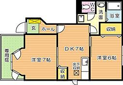 ファミールメゾン A棟[1階]の間取り