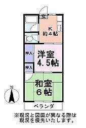 コーポみゆき[1階]の間取り