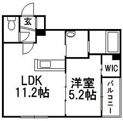 白石中央17[4階]の間取り