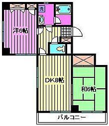 ヴォーグ大宮[4階]の間取り