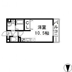 メルベーユ高井田[302号室号室]の間取り