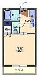 コーポヤナギI[1階]の間取り