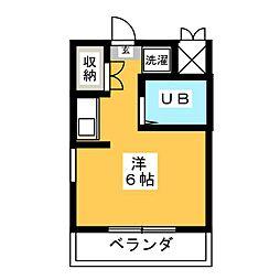 植田スイートハウス[4階]の間取り