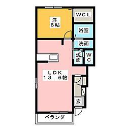 LaTourKAIZAWA V[1階]の間取り