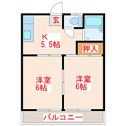 メゾンド弟子丸[1階]の間取り
