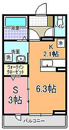 仮)元吉田町アパート[103号室]の間取り