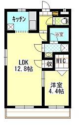 N.O青江 1階1LDKの間取り
