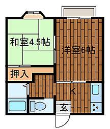 エスティハイム2[2階]の間取り