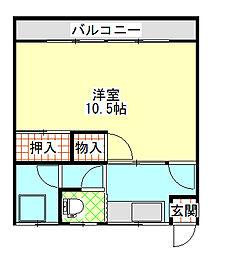 大窪マンション[203号室]の間取り