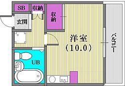 大昭マンション[3階]の間取り