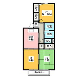 サンライトII[2階]の間取り
