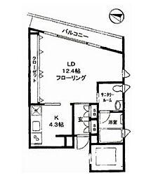 アルカンシェル駒沢[2階]の間取り