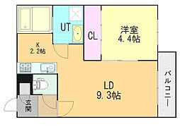 Gracias Shinsapporo12 5階1LDKの間取り