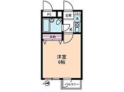 カテリーナ八王子[4階]の間取り