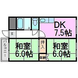 セブンハイツ2[3階]の間取り