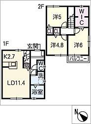 [タウンハウス] 愛知県名古屋市緑区有松愛宕 の賃貸【/】の間取り