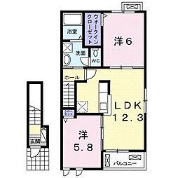 上宮永アパート[2階]の間取り