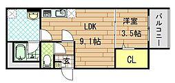 Casa di lapin(カーサ ドゥ ラパン)[2階]の間取り