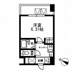 東京都中央区日本橋本町3丁目の賃貸マンションの間取り