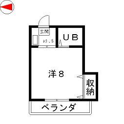ビルックス瀬田[2階]の間取り