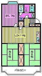 第二末広マンション[3階]の間取り