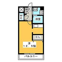リバーシャトー空港[6階]の間取り