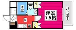 仙台市地下鉄東西線 大町西公園駅 徒歩7分の賃貸マンション 5階1Kの間取り