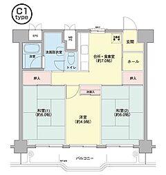 横浜若葉台[3-6-805号室]の間取り